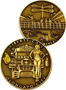 US Navy Olongapo $hit River Challenge Coin Subic Bay PI Liberty Call Non CPO USN