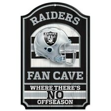 OAKLAND RAIDERS ~ (1) Official NFL 11x17 No Offseason Fan Cave Wood Sign ~ New!
