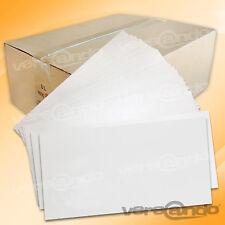 1000 Briefumschläge Umschlag Din lang ohne Fenster weiß Selbstklebend 22 x 11 cm