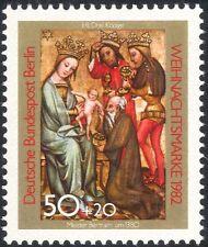 Germania (B) 1982 Natale/Saluti/Natività/arte/Intaglio/Kings/MAGI 1 V (g10121)