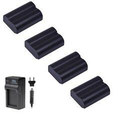 4x Extra Battery for EN-EL15 and Charger Nikon D810 D7100 D7200