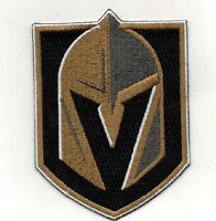 "VEGAS KNIGHTS JERSEY PATCH NHL HOCKEY PLAYOFFS 7"" X 10"" PUCK STYLE EMBROIDERED"