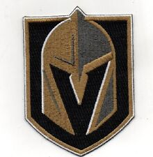"VEGAS GOLDEN KNIGHTS PATCH NHL HOCKEY PLAYOFFS 7"" X 10"" PUCK STYLE EMBROIDERED"
