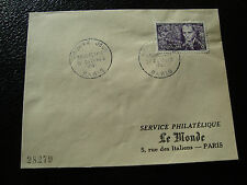 FRANCE - enveloppe 1er jour 27/10/1951 (baudelaire) (cy50) french