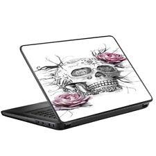 "Skin Decal for HP 2000 Laptop (2013-14) 15.6"" 15"" / Roses in Skull"