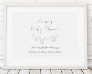 Baby Shower Welcome Sign Picture Poster Print A4 PR52