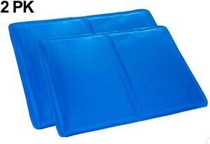 2 X Magic Cool Cooling Gel Pad Pillow Cooling Mat Laptop Cushion Yoga Pet Bed UK