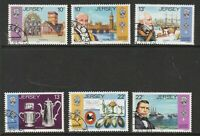 JERSEY 1985 HUGUENOT IMMIGRATION SET OF ALL 6 COMMEMORATIVE STAMPS USED