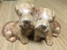 Stunning 100% Genuine Sylvac Beige Pair of Sealyham Terrier Dogs Joined No 166