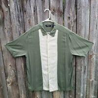 Men's Brandini 100% Silk Short Sleeve Bowling Camp Shirt Size XL