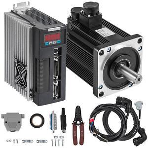 Servo Motor 1.8KW 6NM AC Servo Driver Kit CNC 2.59Mh Steel 3000RPM
