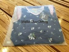 Matilda Jane Photo Op Dress Girls Size 8 Blue Florals Drop Waist Pleated Cute