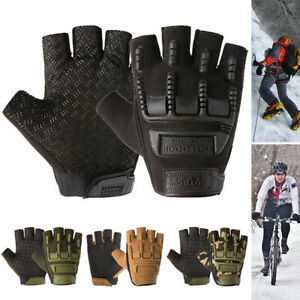 Military Tactical Gloves Fingerless Hard Knuckle Motorbike Sports Army Hunting