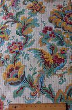Art Deco c1925 French Hand Painted Bird/Jacobean Jacquard Textile Design