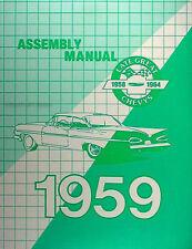 1959 Chevy Assembly Manual 59 El Camino Impala Bel Air Biscayne Chevrolet Car