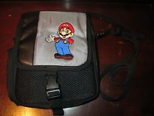 Nintendo DS Super Mario Brothers Gaming Black Carrying Case/ Bag Embroidered