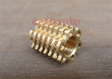 15mm Brass Lanyard Paracord Bead for Knife Tool can insert tritium inside LB045