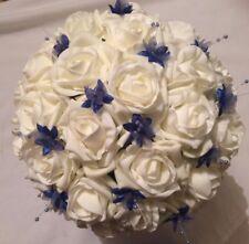 Wedding Flowers Bride / Bridesmaids Large Ivory & Lilac Posy Bouquet