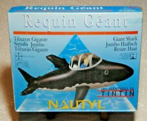 TINTIN MILOU HERGE MOULINSART BOUEE BUOY SOUS MARIN REQUIN SHARK NEUF 1993