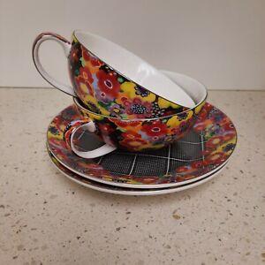 Floral T2 Fine Bone China Tea Cup & Saucer Duo