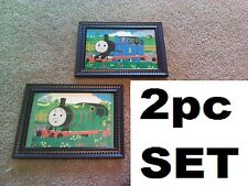 2 Thomas the Train Pictures Childrens Bedroom Wall Hanging Decor Trains Cartoon