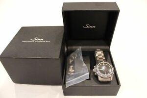 SINN EZM-1 503 mens wristwatch Lemania5100 H3 dial titanium case and bracelet
