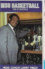 COACH LARRY FINCH ON 1986-87 MEMPHIS STATE UNIV MEN'S BASKETBALL POCKET SCHEDULE