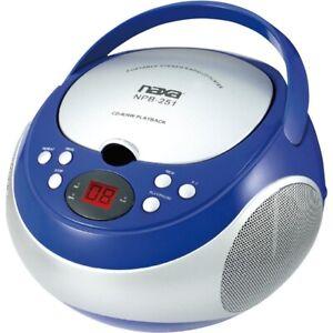 Boombox Naxa NPB251BL Portable CD Player with AM/FM Radio Blue