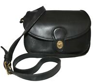 Vintage Coach Prairie Leather Crossbody Womens Bag Purse Black 9954 *Excellent