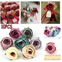 4cm 10Pcs Artificial Silk Rose Peony Flower Heads Bulk Craft Wedding Home Decor