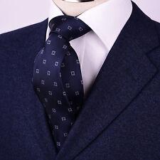 Navy Blue Lucky 9cm Wide Tie Formal Business Power 3.5cm Necktie Traditional B2B
