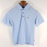 Fjällräven Poloshirt Crowley Piqué Herren S Blau Kurzarm Shirt
