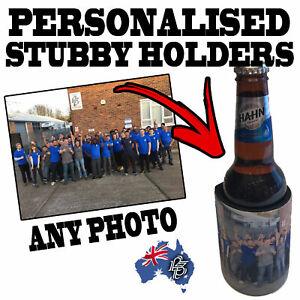 PERSONALISED STUBBY HOLDER - Wedding Gift Beer Bottle Can Cooler custom stubbie
