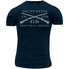 Grunt Style Logo Basic T-Shirt - Midnight Navy