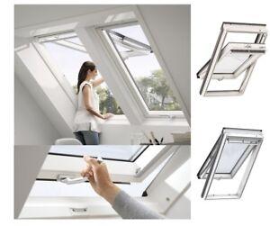 Top! Original VELUX Kunststoff Klapp-Schwingfenster GPU Thermo Dachfenster GLU