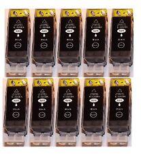 10 schwarz Patronen für Canon IP4800 4850 4900 4950 MG 5100 5150 5250 6250 8150