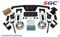 """SGC 4"""" SPINDLE EXTENSION LIFT KIT FOR CLUB CAR GOLF CART DS MODEL (1982-2010)"""