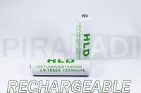 1 PILA BATERÍA RECARGABLE HLD 18650 LI-ION 3.7v 12000mAH batería batería PRO