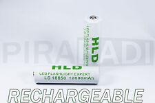 2 PILE ACCU RECHARGEABLE HLD 18650 LI-ION 3.7v 12000mAH BATTERY BATTERIE • PRO •