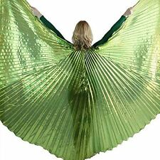 Danzcue Solid Lime-Green Belly Dance Worship Angel Wings With Sticks