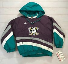 11245a90c NWT 90s Vintage NHL Anaheim Mighty Ducks Pull Over Apex Jacket Size Youth  Medium