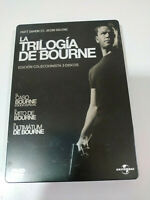 JASON BOURNE LA TRILOGIA - 3 X DVD MATT DAMON STEELBOOK ESPAÑOL ENGLISH