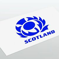 Scotland's Scottish Thistle Sticker Decal For Car Van Window Laptop Wall Rugby