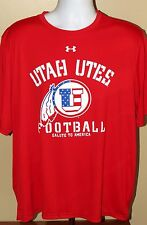 Under Armour Loose Heat Gear Football Salute America University Utah Utes Shirt