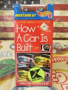 MINT Hot Wheels How a Car is Built VHS, Mustang GT, Red, 1995 K-Mart Exclusive