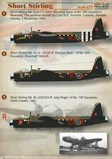 Print Scale decals 1/72 Short Stirling # 72133