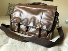 Wilson Leather Briefcase Laptop bag of the Highest  quality Seaming and Leather!