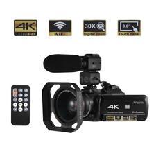 Andoer WiFi 4K ULTRA HD 24MP 30X ZOOM Digital Video Camera Camcorder DV Recorder