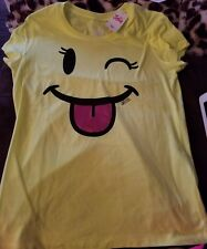 Girl's Justice adorable winky face top Sz 14 NWT (LAST ONE)