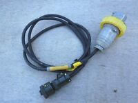 Ex British Army 6ft 110v Military Generator 3 Pin Radio Power Cable Ex MOD